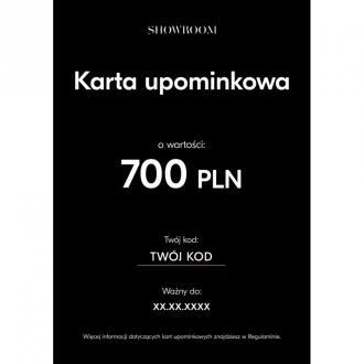 Showroom Elektroniczna karta upominkowa o wartości 700 PLN Akcesoria