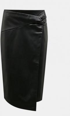 Czarna spódnica ze sztucznej skóry Dorothy Perkins - S