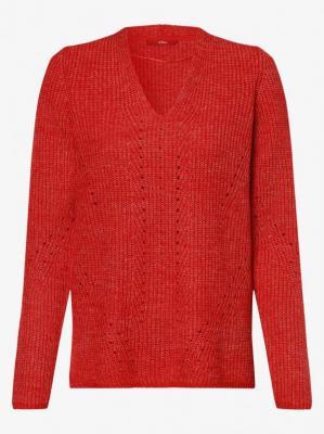 s.Oliver - Sweter damski, czerwony