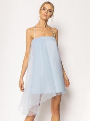 Pinko Sukienka koktajlowa Angiebel 20201 PBK2 1B14A9 7980 G47 Niebieski Regular Fit