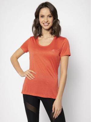 Salomon Koszulka techniczna Agile Ss Tee LC1279900 Pomarańczowy Regular Fit