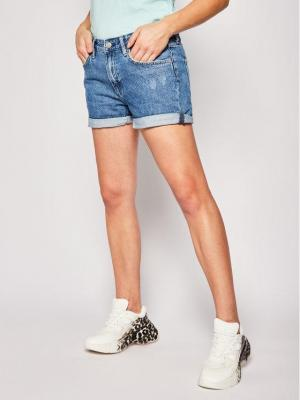 Pepe Jeans Szorty jeansowe PEPE ARCHIVE Mable Short PL800847 Granatowy Regular Fit