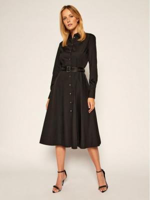 KARL LAGERFELD Sukienka koszulowa Poplin 206W1300 Czarny Regular Fit