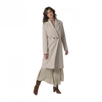 Pomandère Double-Breasted Coat Płaszcze Biały Dorośli Kobiety Rozmiar: