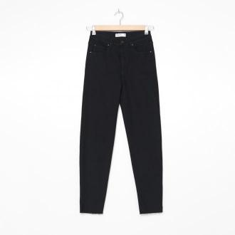 House - Mom jeans z postrzępioną nogawką - Czarny
