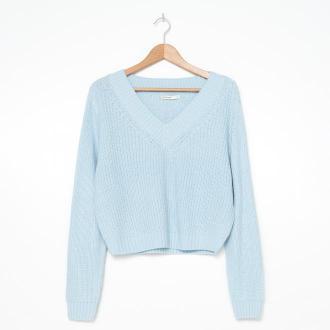 House - Sweter z dekoltem V - Niebieski