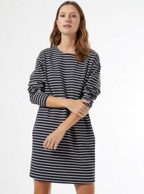 Granatowa dresowa sukienka w paski Dorothy Perkins - XS