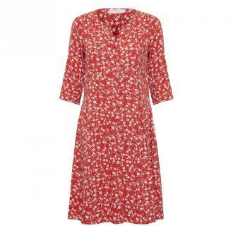 Cream Daisy falbanką Sukienka EV Sukienki Czerwony Dorośli Kobiety
