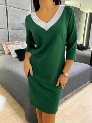 Jasnozielona Bawełniana Sukienka 5125-83-H