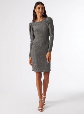 Błyszcząca sukienka w kolorze srebrnym Dorothy Perkins - XS