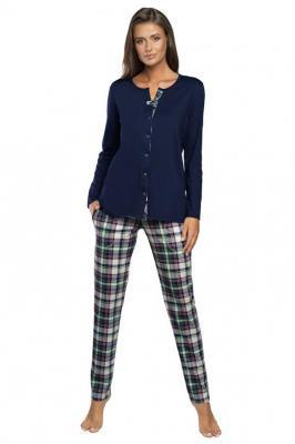 Italian Fashion Morena dł.r. dł.sp. Nocna piżama - granat/druk