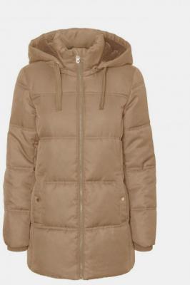 Beżowa zimowa pikowana kurtka VERO MODA Neat - XS