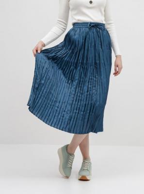 Granatowa plisowana spódnica maxi ONLY Liva - M