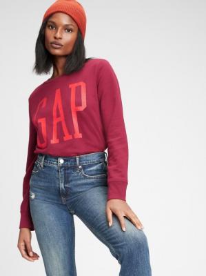 GAP wiśniowa koszulka damska z logiem - XXS