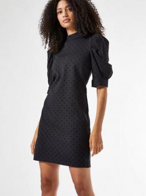Czarna sukienka w kropki Dorothy Perkins - S