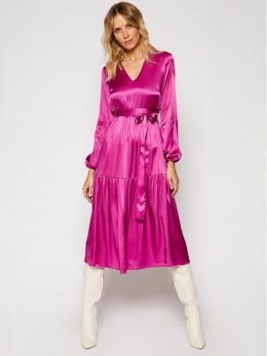Pinko Sukienka codzienna Love Boat AI 2021 PRR 1N133S 7876 Fioletowy Regular Fit