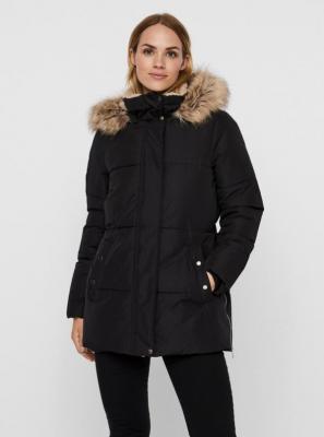 Czarna zimowa pikowana kurtka VERO MODA Finley - XS