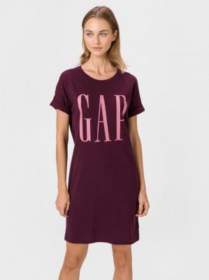 GAP fioletowa luźna sukienka z logiem - XXS