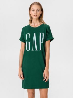 GAP zielona luźna sukienka z logiem - XXS
