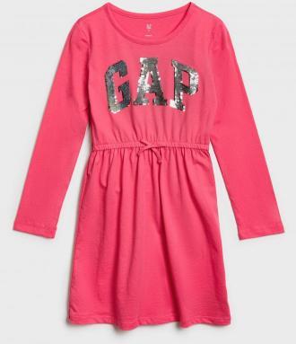 GAP czerwona sukienka z logiem - XS