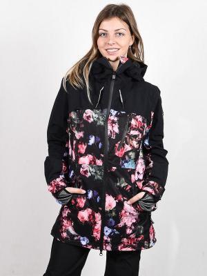 Roxy STATED PARKA TRUE BLACK BLOOMING PARTY kurtka zimowa kobiety - S