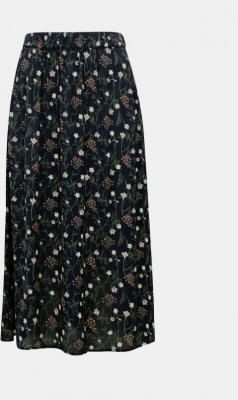 Granatowa spódnica midi w kwiaty Pieces Skylar - XS