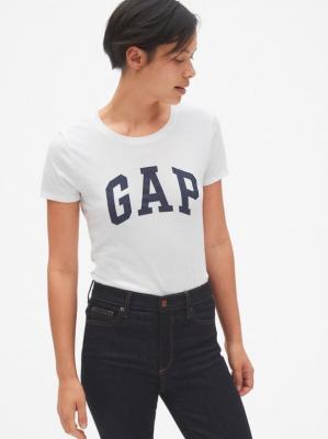 GAP biała koszulka damska z logiem - XS