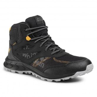 Trekkingi JACK WOLFSKIN - Woodland Texapore Mid K 4042151 D Black/Burly Yellow XT