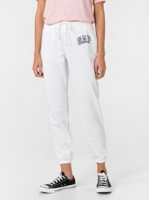 GAP białe damskie spodnie dresowe z logiem - XS