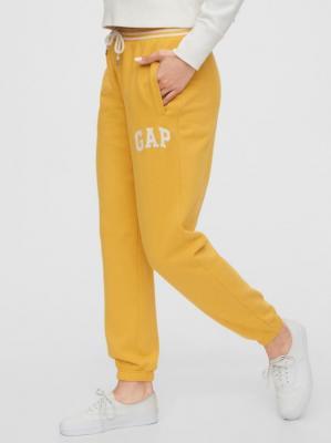 GAP żółte damskie spodnie dresowe z logiem - XS