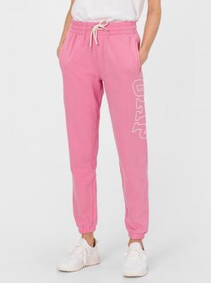GAP różowe damskie spodnie dresowe z logiem - XXS