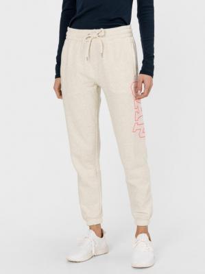 GAP écru damskie spodnie dresowe z logiem - XXS