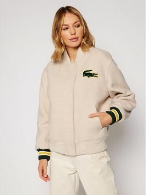 Lacoste Kurtka bomber BF1265 Beżowy Regular Fit