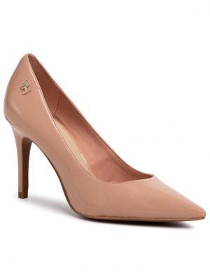 TOMMY HILFIGER Szpilki Feminine Patent High Heel Pump FW0FW04815 Beżowy