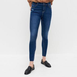 Reserved - Jeansy slim push up - Granatowy
