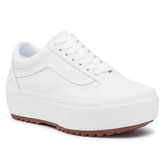 Tenisówki VANS - Old Skool Stacked VN0A4U15OER1 (Leather) Truewht/Truewht