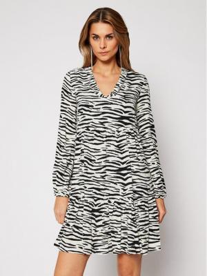 Pinko Sukienka codzienna Zebra 20202 PRR 1N133V 8495 Biały Regular Fit