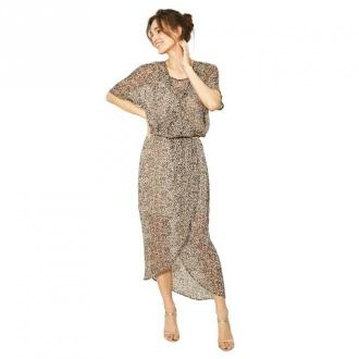 Click Fashion Sukienka Meraza Sukienki Beżowy Dorośli Kobiety Rozmiar: