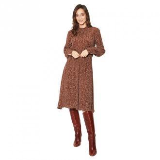 Click Fashion Sukienka Delgado Sukienki Brązowy Dorośli Kobiety