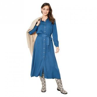 Click Fashion Sukienka Pilea Sukienki Niebieski Dorośli Kobiety