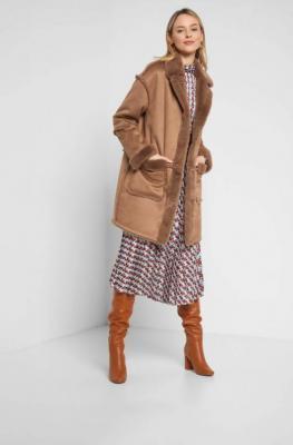 Luźna kurtka z imitacji kożucha