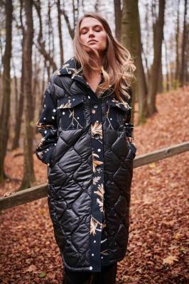 Płaszcz z łączonych tkanin Silence Forest L/XL