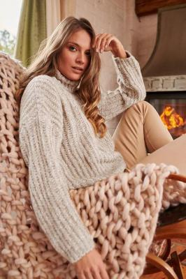 Sweter z golfem Dream by the fire