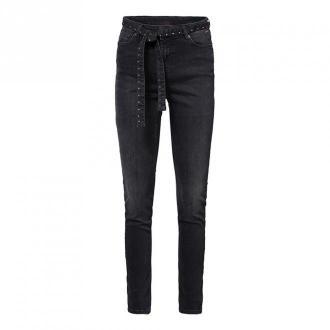 Summum Woman Belted skinny jeans julia Spodnie Czarny Dorośli Kobiety