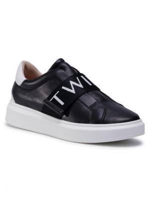 TwinSet Sneakersy 202TCP092 Czarny