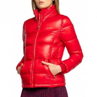 Calvin Klein Bomber Krótki Kurtki Czerwony Dorośli Kobiety Rozmiar: XL