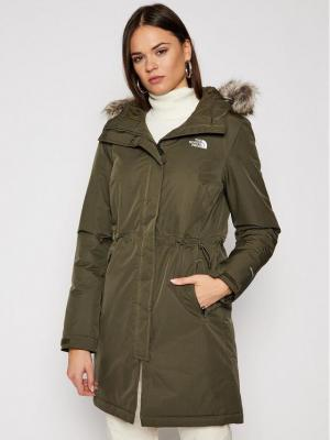 The North Face Parka Zaneck NF0A4M8Y21L1 Zielony Regular Fit