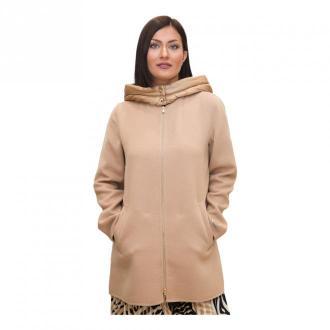 Marella Hooded Coat Płaszcze Beżowy Dorośli Kobiety Rozmiar: 46 IT