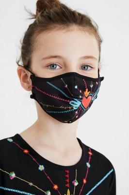 Desigual dwustronna maseczka dziecięca Mask Kids Inmyheart