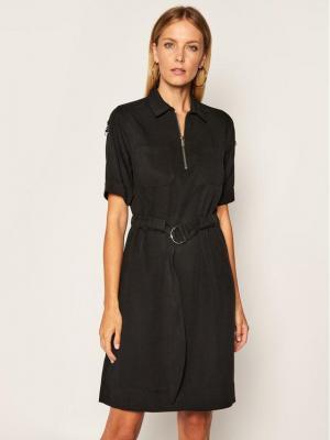 Calvin Klein Sukienka codzienna K20K202071 Czarny Regular Fit